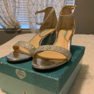 Blue by Betsey Johnson silver glitter